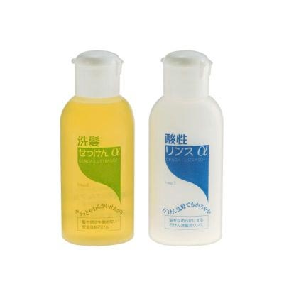 洗髪せっけんα・酸性リンスα トラベルセット ゼノア化粧料/ゼノア化粧品