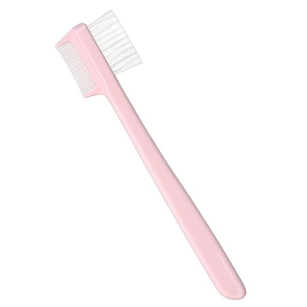 ピンク 眉ブラシ&コーム(花咲オリジナル)