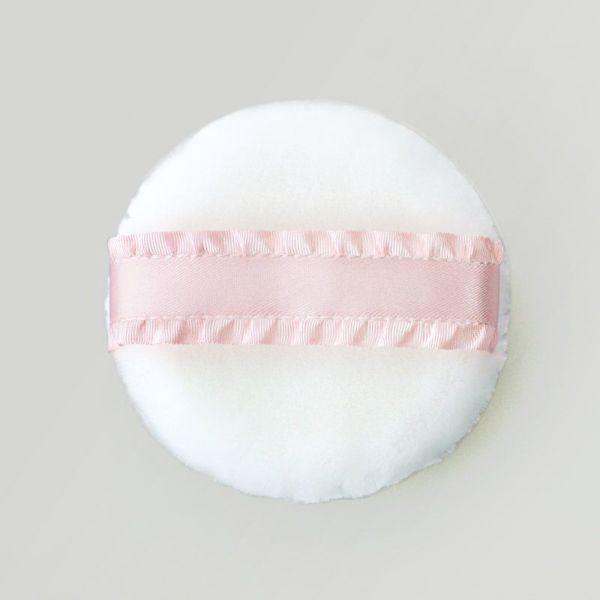 携帯用パフ ピンク・高級フリルリボン (花咲オリジナル)